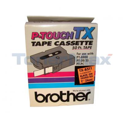 BROTHER P-TOUCH TAPE BLACK/HOT ORANGE (24 MM X 15 M)